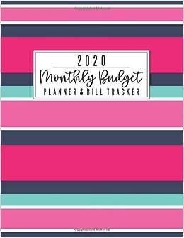 Bills Schedule 2020.2020 Monthly Budget Planner Bill Tracker Home Finance