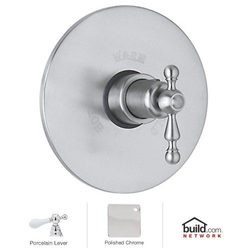- Rohl AC190LM-APC/TO Cisal Trim Set Only to Concealed Thermostatic Mixer Valve Without Volume Flow Control in Polished Chrome