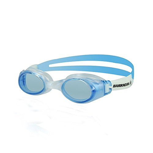 Barracuda Swim Goggle SUBMERGE- Slanted Lenses One-piece Frame, Anti-Fog UV Protection, Shatter-resistance, Easy Adjusting Lightweight Comfortable for Adults Men Women #13355 N (BLUE)