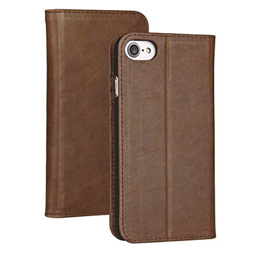 iPhone 6s Plus Wallet Case,Valkit Genuine Leather Folio Flip Case Cover Magnetic Stand Function with Card Slots for Apple iPhone 6 Plus/ 6S Plus 5.5