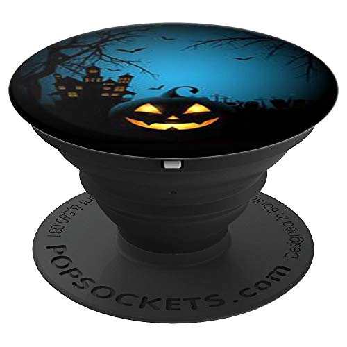 Scary Pumpkin Face Halloween - PopSockets Grip and Stand for Phones and Tablets