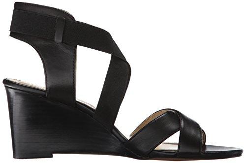 Adrienne Vittadini Chaussures Femme Raenie Wedge Sandale Noir