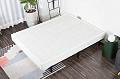You can finally enjoy the strong support, comfort, and convenience with this 7 inch box spring. The boxspring provides a softer and more comfortable sleeping surface than platform beds. Made of heavy duty stainless steel, our box springs prev...
