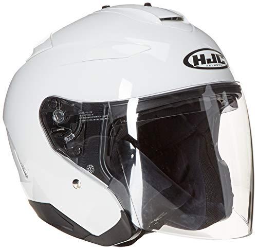 HJC Helmets IS-33 Helmet (White, Medium) (Open Face Vs Full Face Motorcycle Helmets)