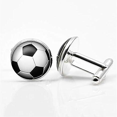 SSHDZS Gemelos 1 par de Gemelos de balón de fútbol para Hombres, Camisa de Traje, Gemelos para Hombres y Mujeres, fanáticos del Deporte, Accesorios de Boda: Amazon.es: Deportes y aire libre