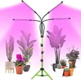 Grow Light with Stand, COOLAPA 80W Four-Head Indoor
