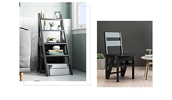 hmjv Escalera-estante-soporte Escalera multifunción para el hogar Taburete Madera maciza Ikea Silla plegable para niños Escalera de cuatro escalones de doble uso Escalera ascendente 38 y veces; 39 y: Amazon.es: Bricolaje y