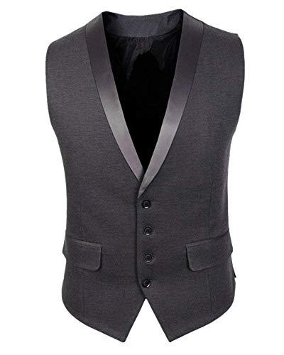 Vestibilità Business A Grau Essenziale Uomo Slim Da Lavoro E Gilet Casual V Leggero Traspirante Scollo Emmay 4XOqpwS