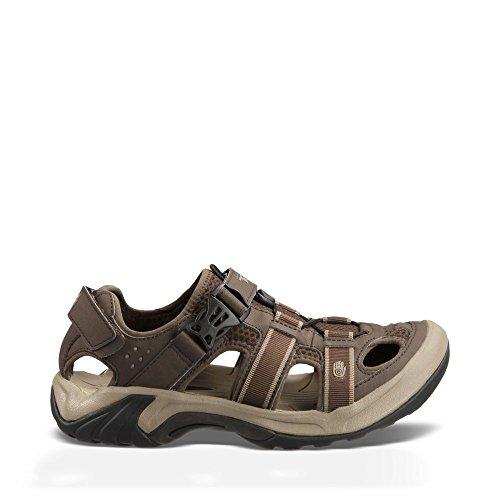 Teva Men's Omnium Closed Toe Sandal, Turkish Coffee, 10 M US