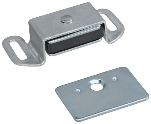 [Stanley Hardware CD46 Reversible Magnetic Cabinet Catch in Clear Coated Aluminum] (Aluminum Cabinet Hardware)