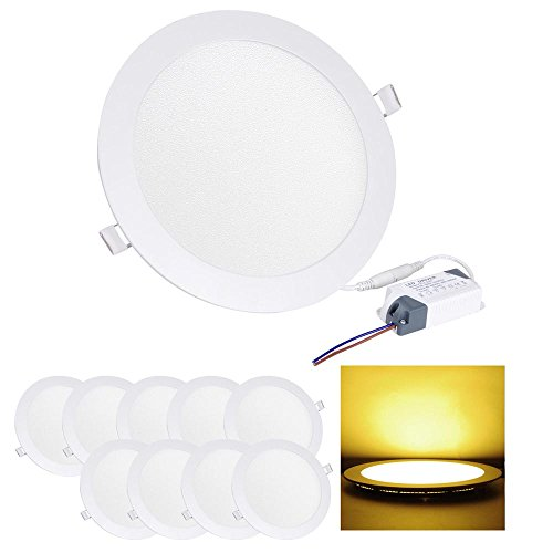 10x 18w SMD LED Recessed Ceiling Panel Down Light Lamp w/ Driver Energy Saving