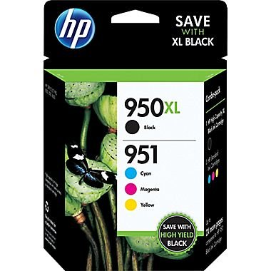 HP-950XL-Black951-Tri-Color-C2P01FN140-Inkjet-Cartridge-Four-Pack