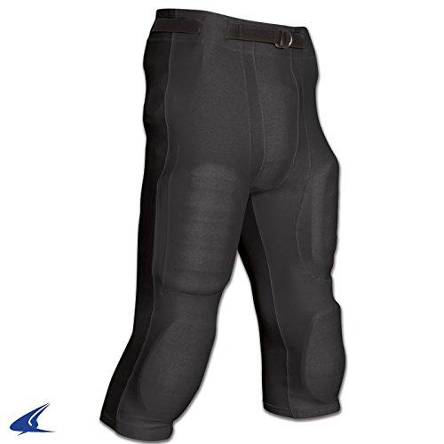 (CHAMPRO Adult Goal Line Poly Spandex Football Pant Black 2XL)