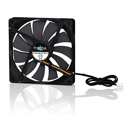 Price comparison product image Fractal Design Silent Series R2 Blackout Edition FD-FAN-SSR2-140-BK 140mm Case Fan