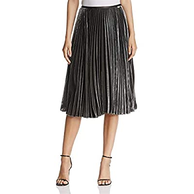 Lafayette 148 New York Womens Ranella Silk Velvet Pleated Skirt