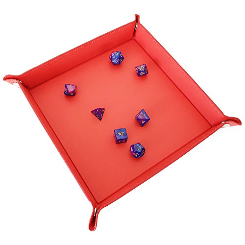 YH Poker Pu Leather Dice Tray Valet Tray Storage Tray Jewelry Tray with Snaps - Deluxe Valet Tray