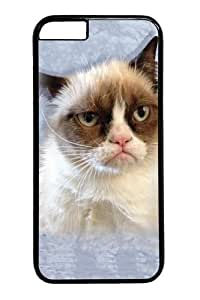 "Custom DIY Case for iphone 6 Plus, Children's Grumpy Cat in Blue Hard PC Back Protective Case for iphone 6 Plus 5.5"" Snap On Cover Black Case-130"