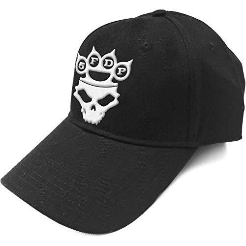 Five Finger Death Punch Baseball Cap Knuckles Band Logo Official Black Strapback