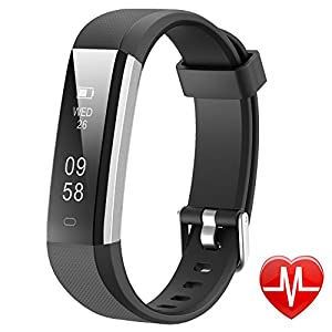 Lintelek Activity Tracker, Slim Fitness Tracker Watch, Touch Screen Smart Bracelet with Anti Lost Strap for Kids, Women and Men