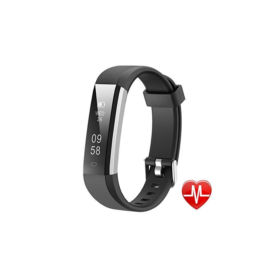 Lintelek Activity Tracker, Slim Fitness Tracker Watch, Touch Screen Smart Bracelet with Anti Lost Strap for Kids, Women and Men