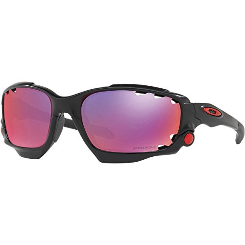 Oakley Men's Racing Jacket Non-Polarized Iridium Wrap Sunglasses, Matte Black, 62 - Oakley Sunglasses Racing Jacket