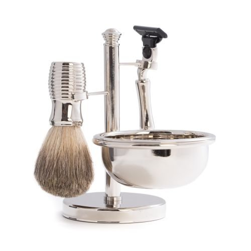 - 4 Piece Chrome Shaving Set