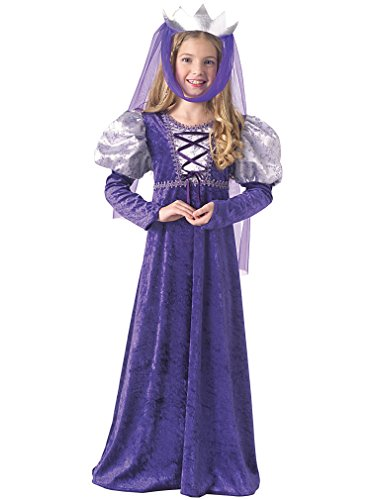 Rubie's Costume Renaissance Queen Child Costume Purple Large (12-14)