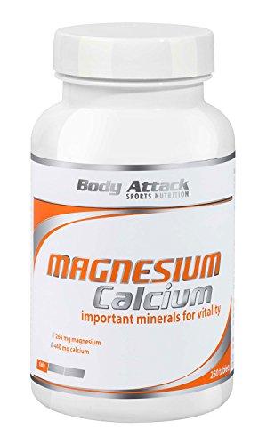 Body Attack Magnesium+Calcium, 1er Pack (1x 250 Tabletten)