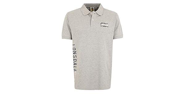 Lonsdale - Camiseta - para Hombre Marl Gris Large: Amazon.es: Ropa ...