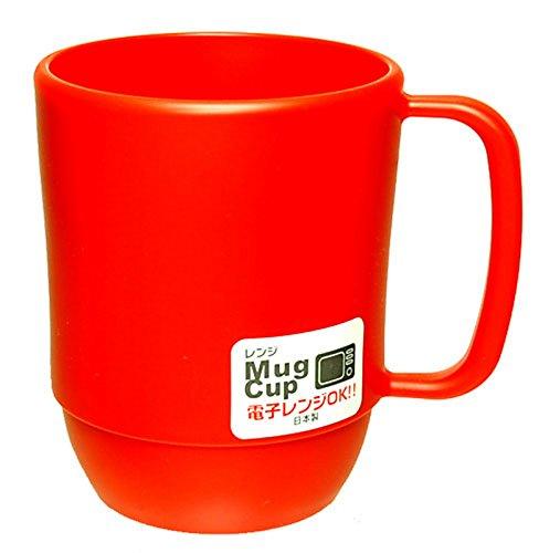 Plastic Coffee Mug (JapanBargain 3091, Japanese Microwavable Water Mug Unbreakable Milk Juice Mug for Kids Camping Travel Water Tea Coffee Mug 12 ounce BPA Free Non-Toxic Dishwasher Safe Made in Japan,)