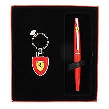Sheaffer Scuderia Ferrari Taranis Rosso Corsa Fountain Pen with Matching Key Ring