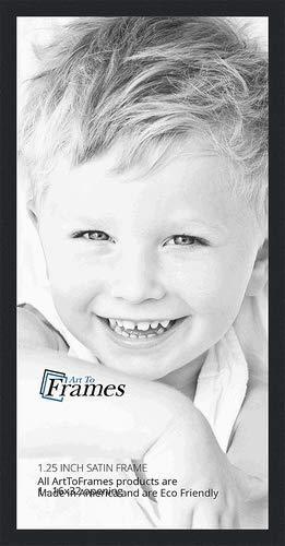 Amazoncom Arttoframes 16x32 Inch Satin Black Picture Frame