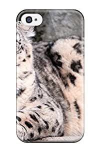 Awesome Design Snow Leopard Hard Case Cover For Iphone 4/4s