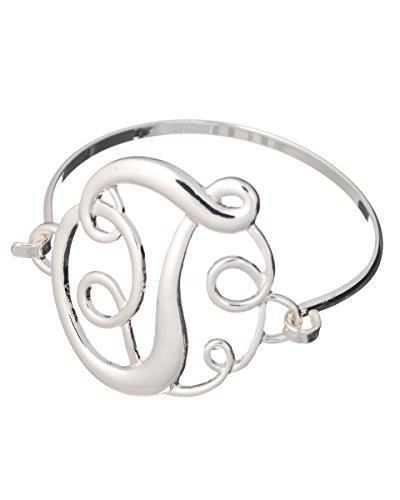 Jewelry Nexus Initial T MONOGRAM Designer Silver-tone Filigree Wire ()