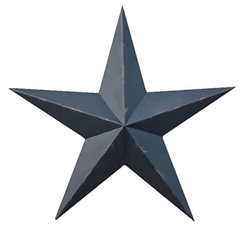 Barn Large Star - 40 Inch Rustic Black Barn Star Made with Galvanized Metal to Prevent Rusting. Amish Hand Made Your Source for Heavy Duty Metal Tin Barn Stars and Primitive Style Stars for Your Country Crafts and Home and Garden Decor. American Handcrafted - Made in the Usa!