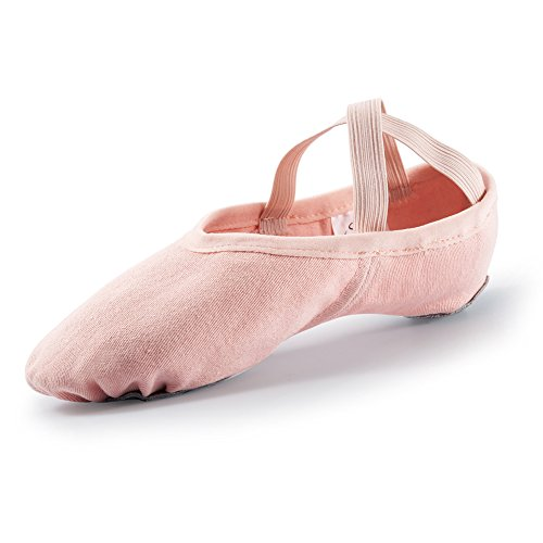 Swan-Pro-Elastic-Stretch-Canvas-Ballet-Dance-Slippers-Flats-23CM905-Ballet-Pink