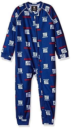 Outerstuff NFL New York Giants Toddler Raglan Zip Up Coverall Dark Royal, 3T ()