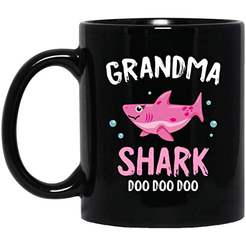 Grandma Shark Doo Doo Halloween Coffee Mug Decorations Gifts