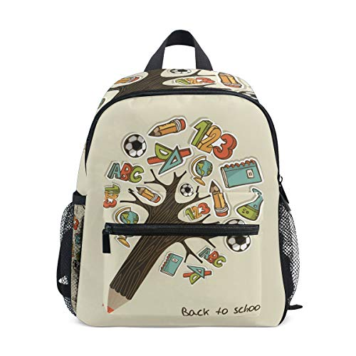 MUOOUM Lovely Stationery Tree Soccer Kids Backpack Pre-School Toddler Bag Travel Daypack -