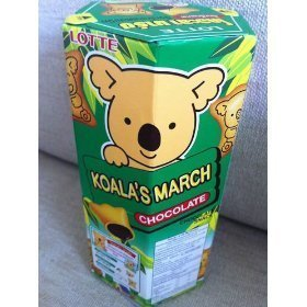 (1 Box) Lotte Koala's March Chocolate Cream Filled Biscuits 41g Amazing of Thailand