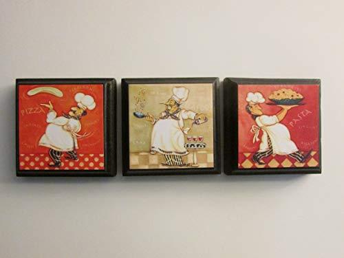 Chef Refrigerator Magnet Set of 3 - Chef Fridge Magnets Chef Kitchen Bistro Decor