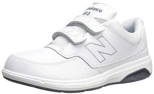 New Balance Men's MW813V1 Hook and Loop Walking Shoe, White, 44.5 EU/10 UK