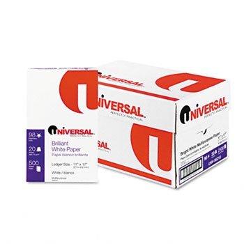 Universal® Bright White Multipurpose Copy Paper PAPER,XERO/DUP,LDGR,98,WE 18038 (Pack of2)