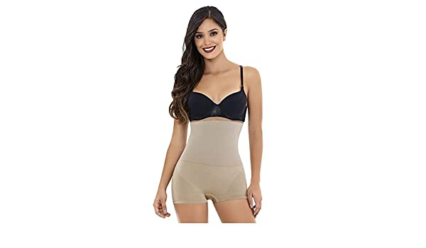 5d7de83af5 Fitted Curve Biocrystals High Waist Boxer by Co Coon 3500 XL Nude at Amazon  Women s Clothing store