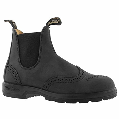 Blundstone WOMEN'S Brogue Chelsea Pull On Boot, (Wing Tip Style 1471, or 1472) (AU4( 7 US WN), 1472-Rustic Black) by Blundstone