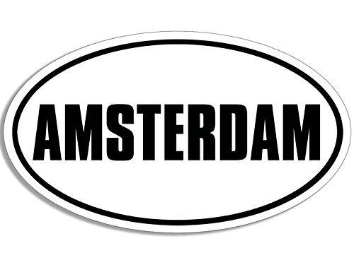 BW Oval AMSTERDAM Sticker (Netherlands decal)