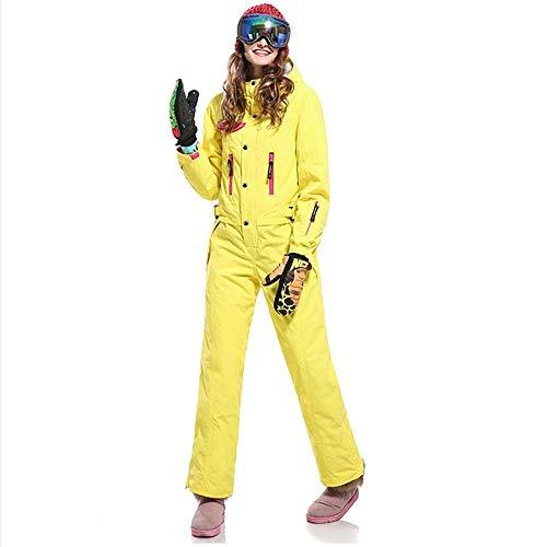Teslaluv One-Piece Ski Suit Women's Snowboard Suit Snowsuit Warm and Windproof Waterproof Cold-Resistant,S