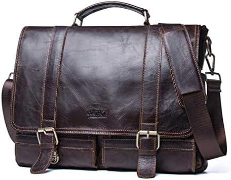 革ポータブルビジネスバッグブリーフケースレザー男性コンピュータバッグショルダーメッセンジャーバッグ