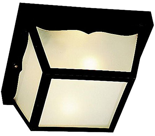 (Kichler 9322BK Outdoor Plastic Fixtures Outdoor Ceiling 2-Light, Black)
