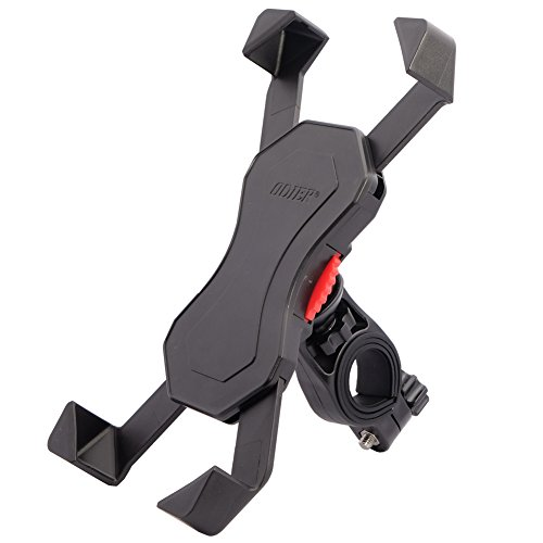 Bike Mount for Phone Anti Shake Fall Prevention Bicycle Handlebar Mobile Phone Holder Cradle Clamp with 360 Rotate for 3.5 to 6.5 inch iPhone Android Smartphones GPS Other Devices (Universal)